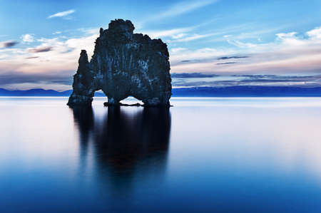 Hvitserkur is a spectacular rock in the sea on the Northern coast of Iceland. Stock Photo - 14646403