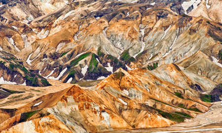 Beautiful multicolored mountains at Landmannalaugar, Iceland photo