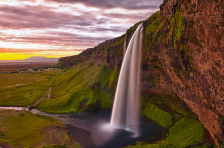 Seljalandsfoss is one of the most beautiful waterfalls on the Iceland photo