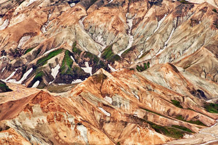 Beautiful multicolored mountains at Landmannalaugar, Iceland photo