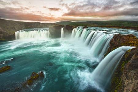 Godafoss is a very beautiful Icelandic waterfall photo