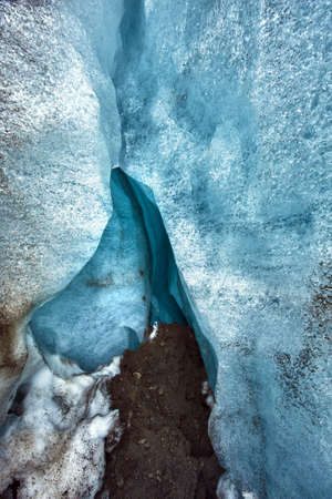 Detailed of the Icelandic glacier ice cave with a incredibly vivid colors and a nice texture Stock Photo - 14714779