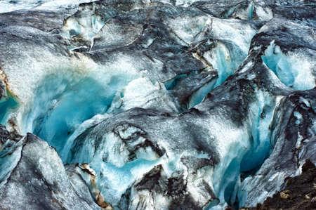 Gedetailleerde van de IJslandse gletsjer ijs met een ongelooflijk levendige kleuren en een mooie textuur
