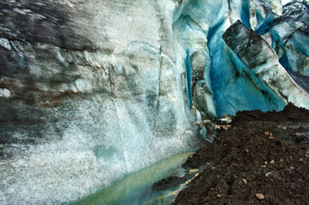 Detailed of the Icelandic glacier ice cave with a incredibly vivid colors and a nice texture Stock Photo - 14714816
