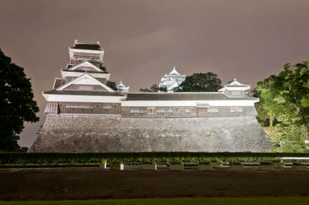 feudal: The famous castle in Japanese cisty of Kumamoto is in a fact a reconstruction of the historical building that was destroyed during the WW2.