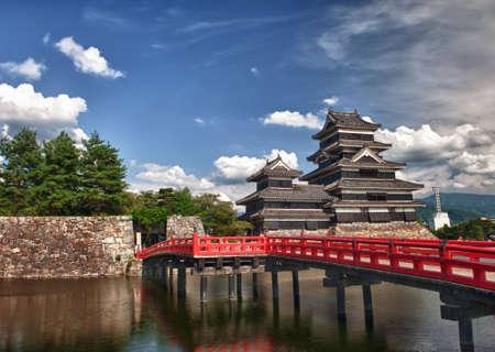 Prachtige middeleeuwse kasteel Matsumoto in het oosten van Honshu, Japan