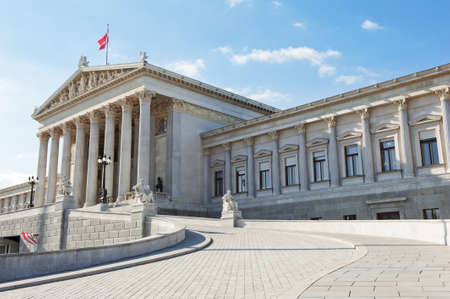 The building of Parliament, Vienna - Austria photo