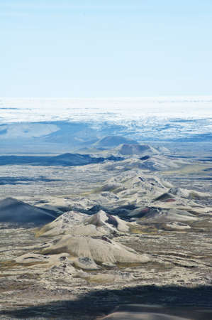Lakagigar is a row of appox. 130 volcanic craters on the Southern Iceland. The biggest one is the volcano Laki the eruption of which was one of the greatest disasters in the 18th century. Stock Photo - 17272864