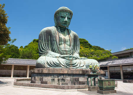 Famous Great Buddha bronze statue in Kamakura, Kotokuin Temple.  Stock Photo - 18025192