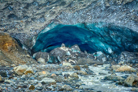 melts: Famous glacier caves at Kverkfjoll in the highlands of Iceland used to be magical place to visit. As the ice melts they are collapsing and thus inaccessable
