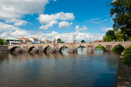 Stone Bridge in Pisek (Deer Bridge), the oldest gothic stone\ bridge in the Czech republic