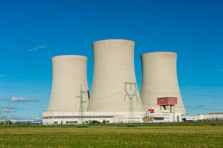 cooling towers: Nuclear power plant Temelin in the Czech Republic