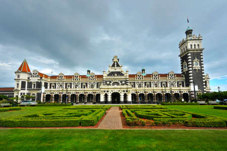 new buildings: Famous Dunedin Railway Station was designed by George Troup and open in 1906. Dunedin, New Zealand