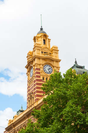 famous building: Flinders Street Station is a famous building from 1909 in Melbourne, Australia Editorial