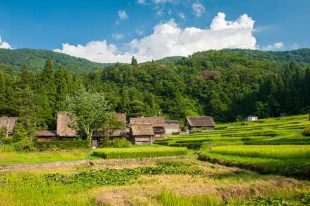 ogimachi: Famous traditional Japanese village Ogimachi - Shirakawa-go  Stock Photo