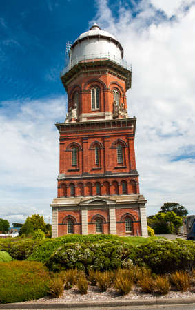 southernmost: Historical Water Tower in Invercargill, the southernmost city of New Zealand and centre of Southland region Stock Photo