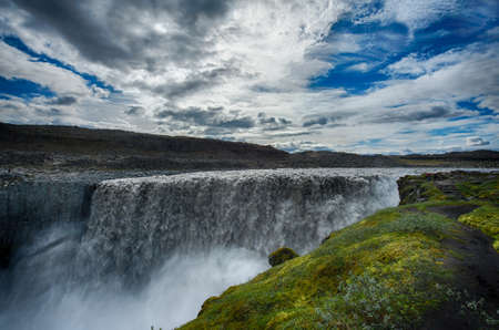 Dettifoss is the most powerful waterfall on Iceland and in the whole Europe.  photo