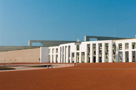 canberra: Main entrance to the Parliament of Australia, Canberra Stock Photo