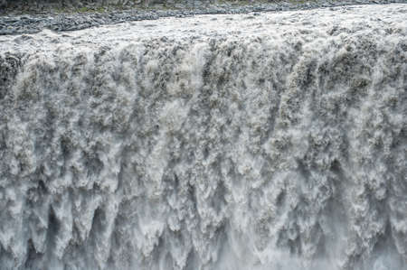 Detail of water from Detifoss waterfall. Dettifoss is the most powerful waterfall on Iceland and in the whole Europe. photo