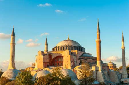 hagia: Hagia Sophia in the evening, Istanbul, Turkey