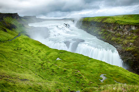 Gulfoss is a powerful Icelandic waterfall. It is located in the South of the island. HDR photo