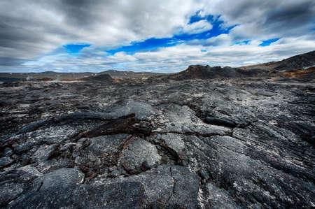 inhospitable: Inhospitable dramatic volcanic landscape at Krafla geothermal area, Iceland