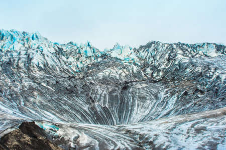deep freeze: Detailed photo of the Icelandic glacier ice with a incredibly vivid colors and a nice texture