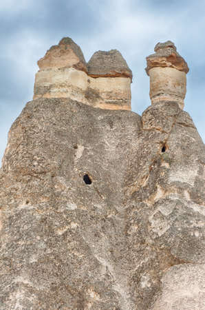 phallus: Fairy tale chimney rocks in Pasabg (Monk) Valley in Cappadocia, Turkey