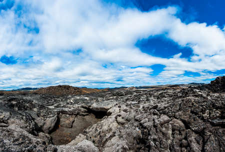 igneous: Inhospitable dramatic volcanic landscape at Krafla geothermal area, Iceland