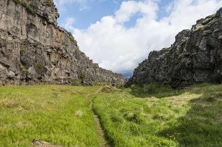 tectonics: Continental drift between the North American and Eurasian Plates seen at Thingvellir national park, Iceland