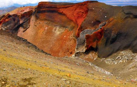 stratovolcano: Red Crater on the top of Tongariro Volcano, Tongariro Crossing National Park - New Zealand