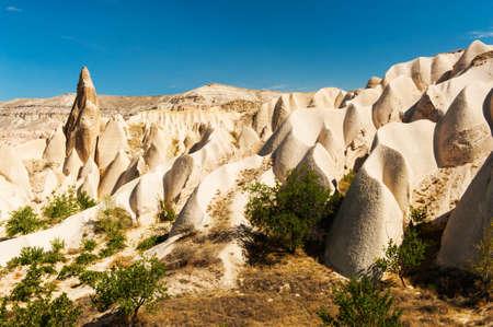 rock formations: Vivid rock formations from above in Cappadocia, Turkey