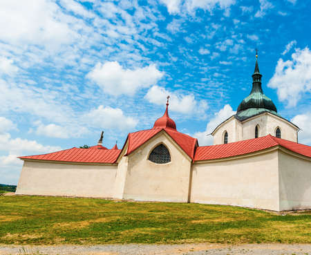 johannes: Pilgrimage church of Saint John of Nepomuk at Zelena Hora, Zdar nad Sazavou, Czech Republic is the final work of a famous baroque architect Jan Santini Aichel Stock Photo