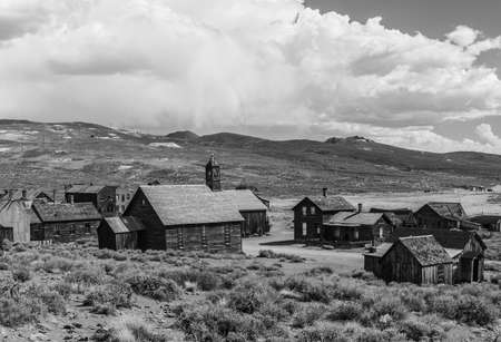 ghost town: Ghost town of Bodie is a National Historic Landmark. It is located in Mono County, Sierra Nevada - California. United States of America. The town was founded in 1859.