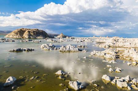 mono: Tufa formations in Mono Lake. Long exposure. California, USA Stock Photo