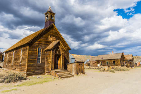 western usa: Ghost town of Bodie is a National Historic Landmark. It is located in Mono County, Sierra Nevada - California. United States of America. The town was founded in 1859.