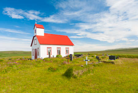 functionalism: Beautiful small Icelandic church in the rural area