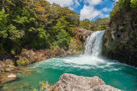 tongariro: Small Waterfall in the Tongariro Crossing National Park, New Zealand