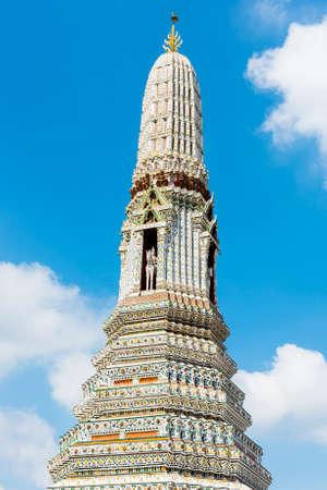 wat arun: Top of the temple of Wat Arun. Bangkok, Thailand