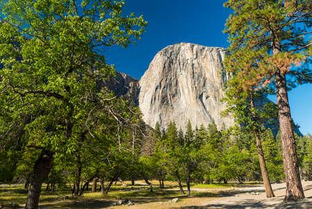 granite park: El capitan granite rock seen from the Yosemite Valley, Yosemite National Park, USA