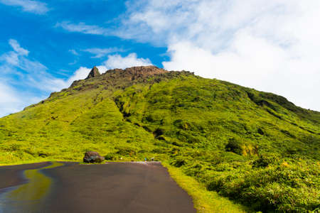 guadeloupe: Soufriere volcano is the highest mountain in Guadeloupe, French department in Caribbean