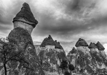 phallus: Fairy tale chimney rocks in Pasabg (Monk) Valley in Cappadocia, Turkey
