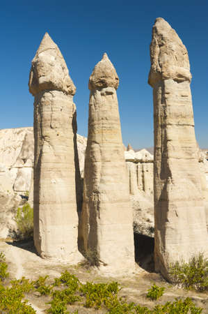 phallus: Fairy tale chimneys in Love Valley near Goreme, Cappadocia, Turkey Stock Photo