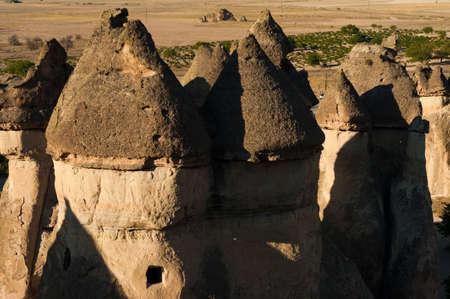 phallic: Fairy tale chimney rocks in Pasabg (Monk) Valley in Cappadocia, Turkey