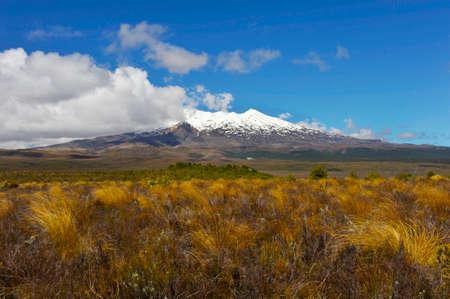 stratovolcano: Mt. Ruapehu volcano, Tongariro Crossing National Park - New Zealand.
