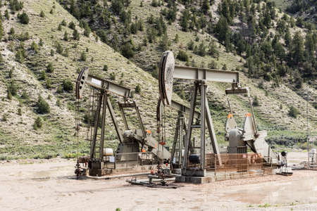 remediation: Oil drilling well, northern Utah. USA