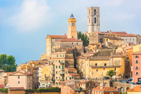 Old town of Grasse, town in Provence famous for its perfume industry, France Banco de Imagens