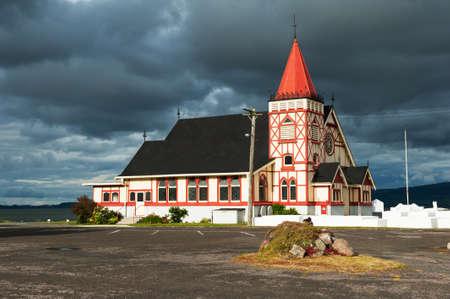 faiths: St. Faiths Anglican Church in Rotorua is an example of Maori Craft