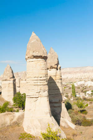 Fairy tale chimney in Love Valley near Goreme, Cappadocia, Turkey