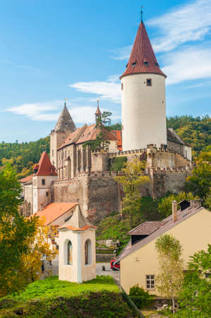 bastion: Famous Czech medieval castle of Krivoklat, central Czech Republic Stock Photo
